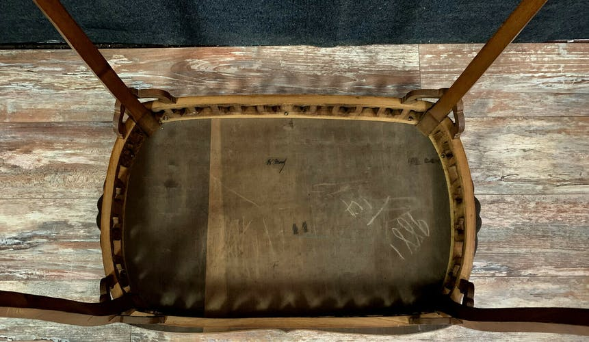 School of Nancy circa 1900: ceremonial table stamped.