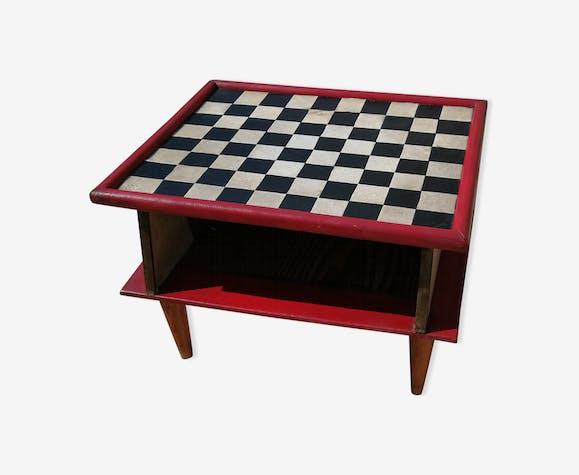 Table de jeu à damier