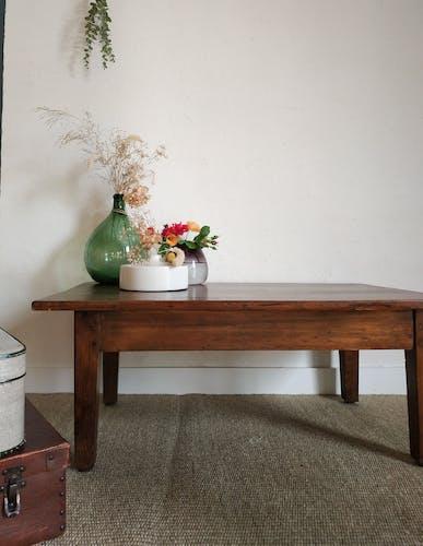 Table de ferme basse ancienne