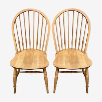 Paire de chaises vintage scandinaves
