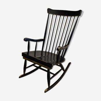 rocking chair en bois vintage d 39 occasion. Black Bedroom Furniture Sets. Home Design Ideas