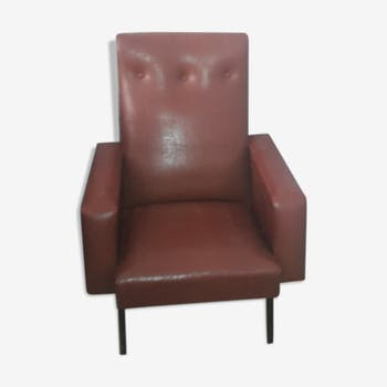 Brown leatherette vintage Chair