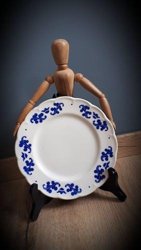 Assiette Coronation bleue