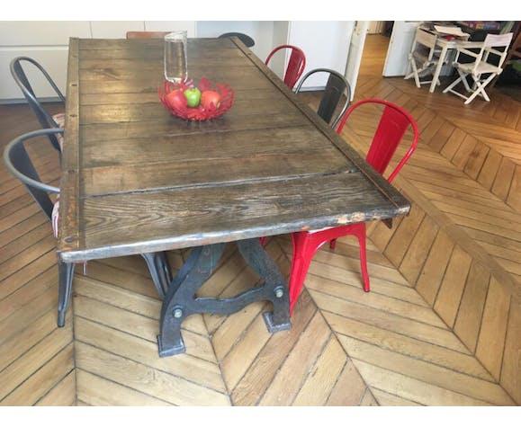 Table à manger bois et métal