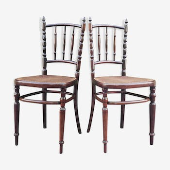 Pair of chairs cannes by Fischel - 1930