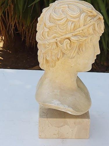Buste plâtre et marbre