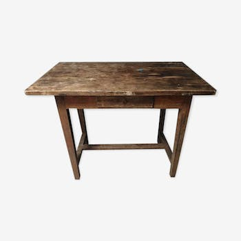 Old workbench oak work table sidetable