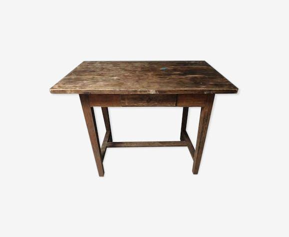 Vieille table de travail de chêne d'intermarché