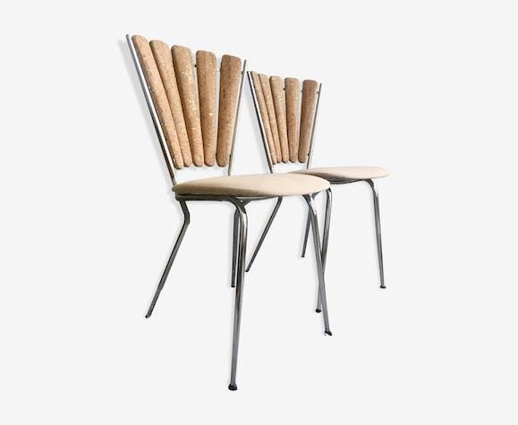 Chaises pétales vintage restaurées