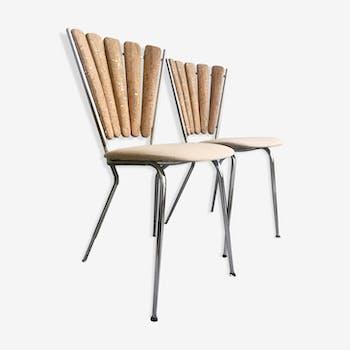 Restored vintage petals chairs