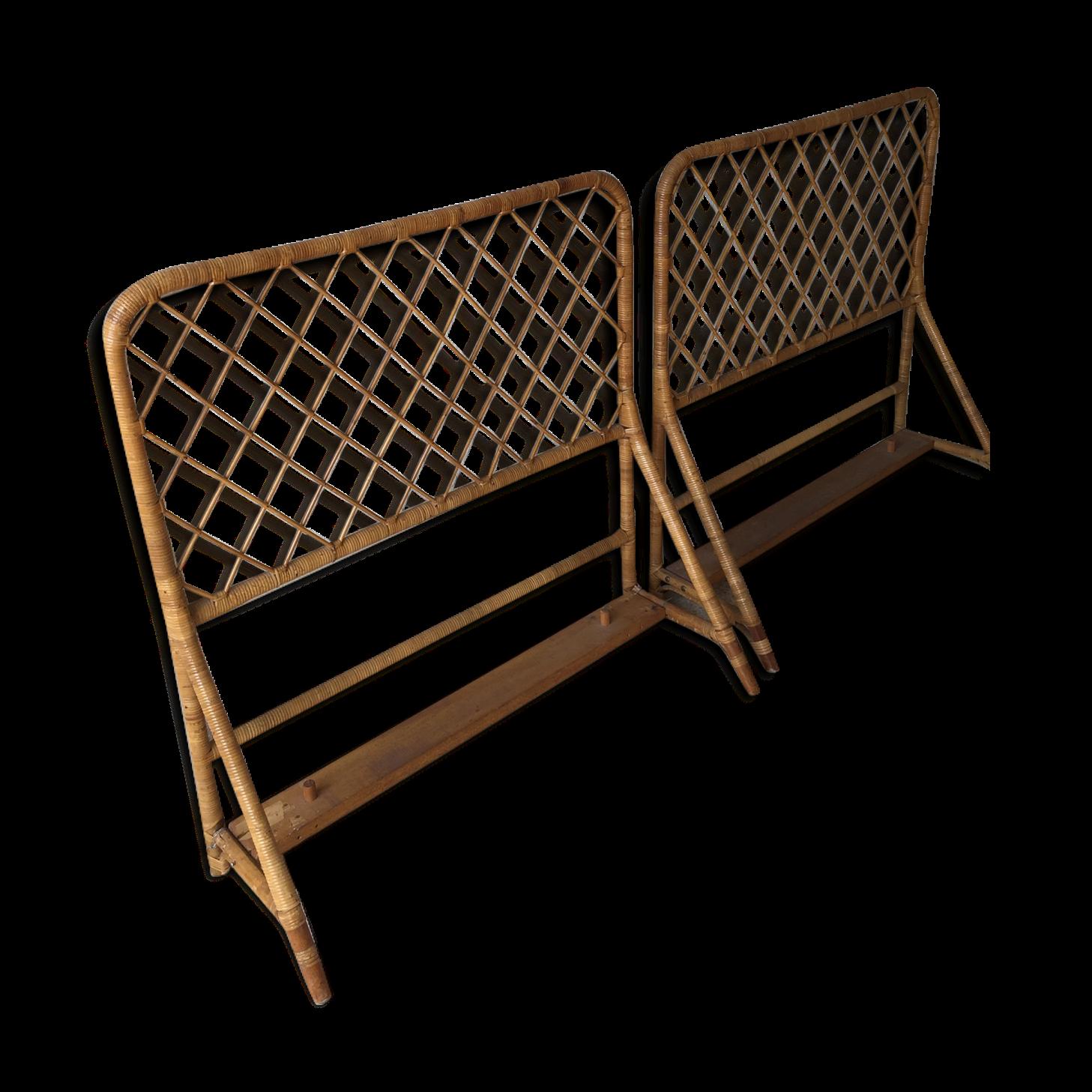 tete de lit en rotin t te de lit en rotin tiss brin d 39 ouest t te de lit rotin style palmier. Black Bedroom Furniture Sets. Home Design Ideas