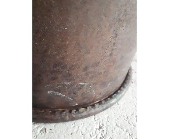 Chaudron en cuivre martelé vintage, 1950