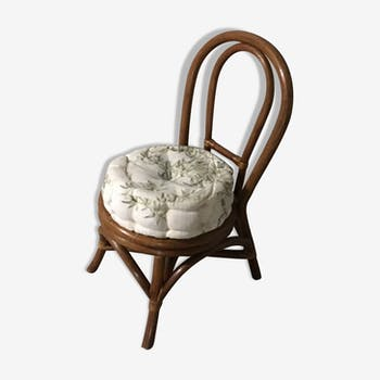 Children 70s rattan chair