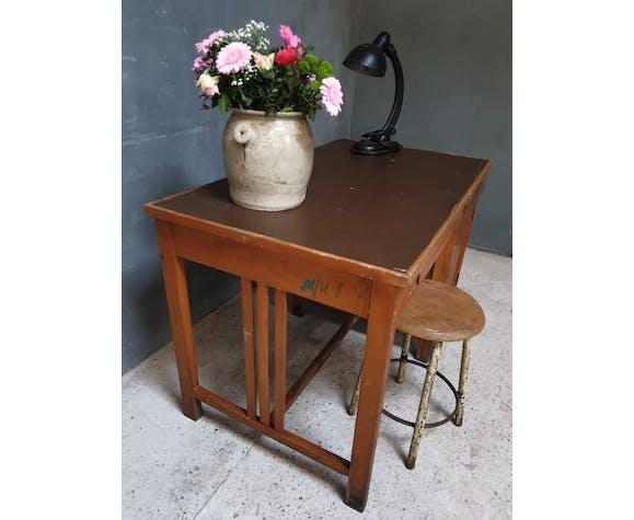 Bureau en bois de hêtre vintage