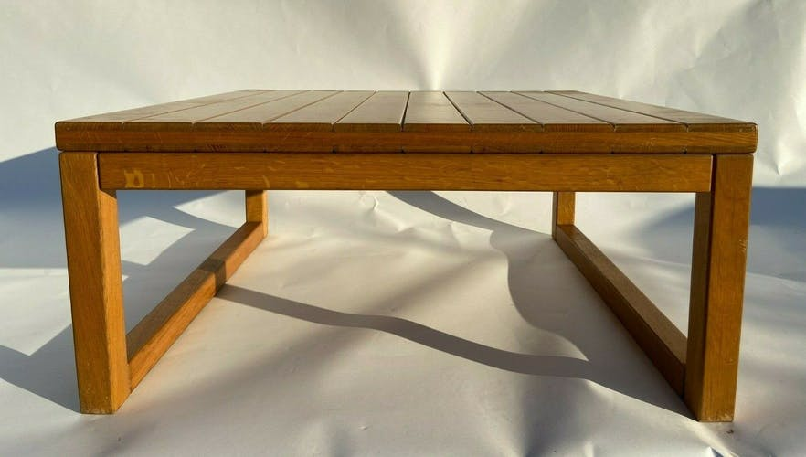 Table basse en pin 1970 1980