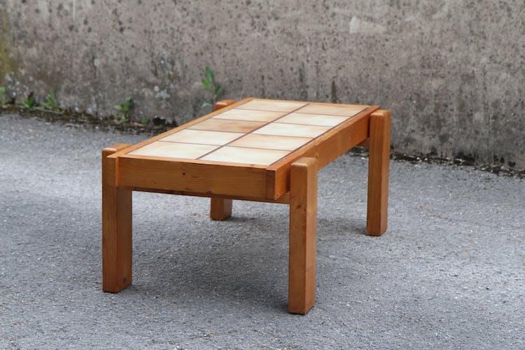 Table basse en pin 111x58cm