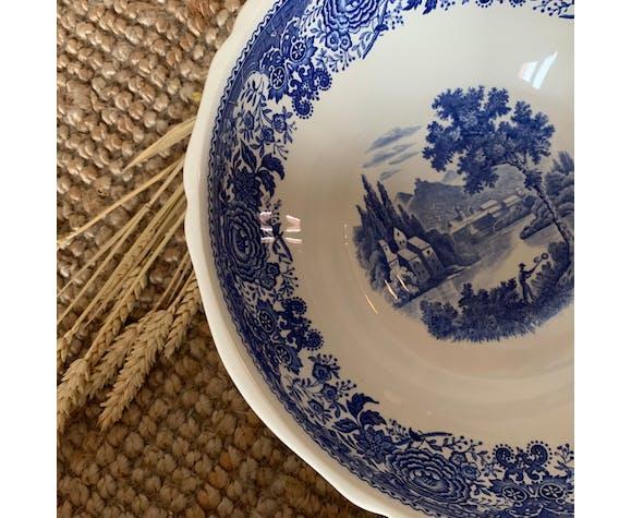 Saladier Villeroy & Boch modèle Burgenland bleu et blanc
