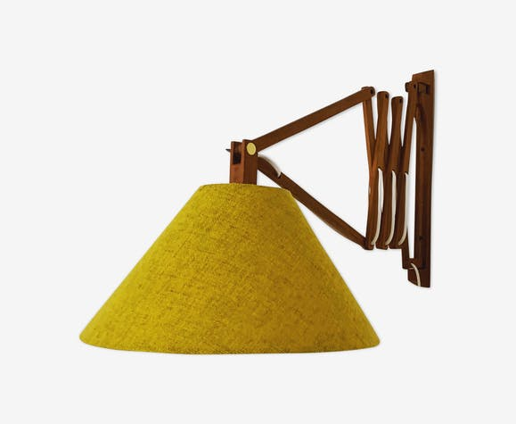 Applique ciseaux en bois de teck moderne du milieu du siècle