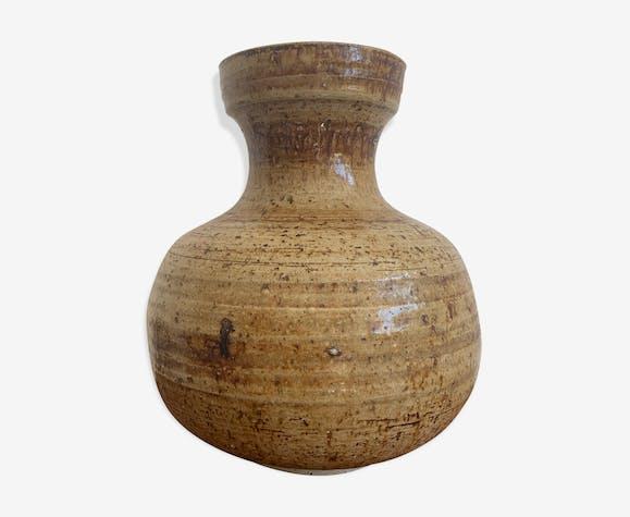 Vase en céramique vintage signé