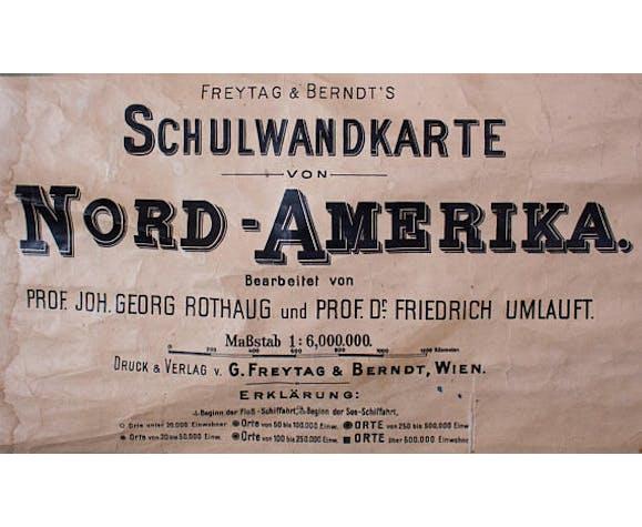"""Poster """"North America"""" Friedrich Umlauft 1925"""