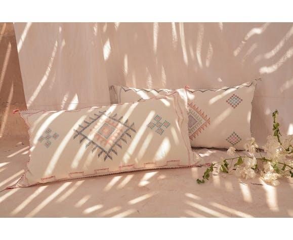 Traversin sabra blanc pur 45 x 90 cm