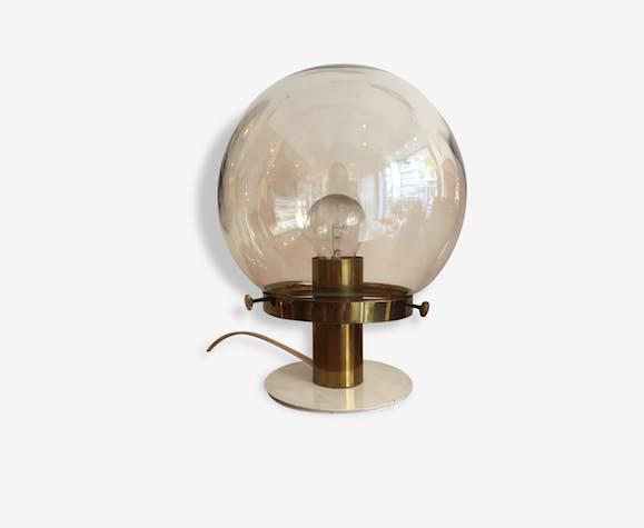 Lampe De Table Lampe De Chevet Lampe A Poser Globe En Verre Pied