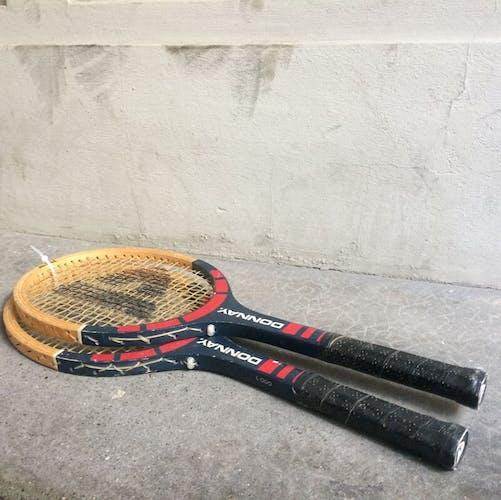 Anciennes raquettes de tennis junior