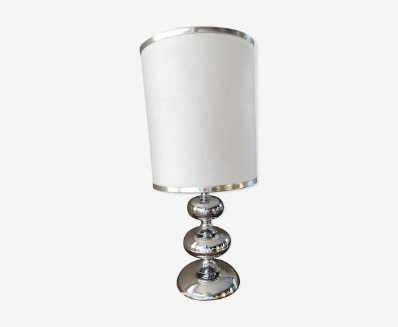 Lampe vintage des années 70 métal chromé
