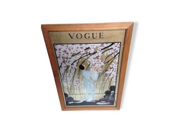 Miroir Ancien Dessin Cadre VOGUE Vintage Rare! - bois (Matériau ...