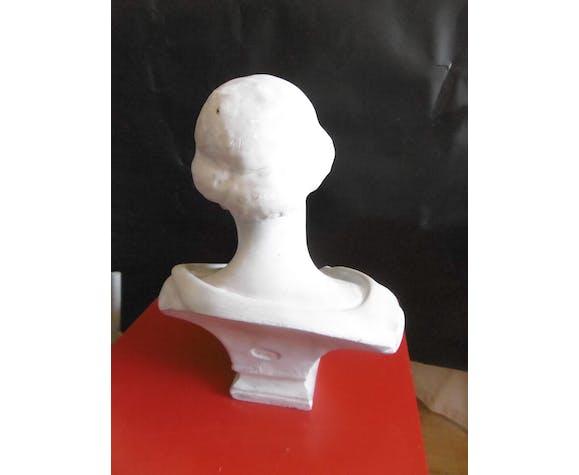 """Buste  en plâtre """"Muse du Louvre"""""""