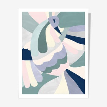 Oiseau 40x50 de Noémie Cédille