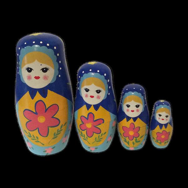 Poupées russes Matriochkas bleu