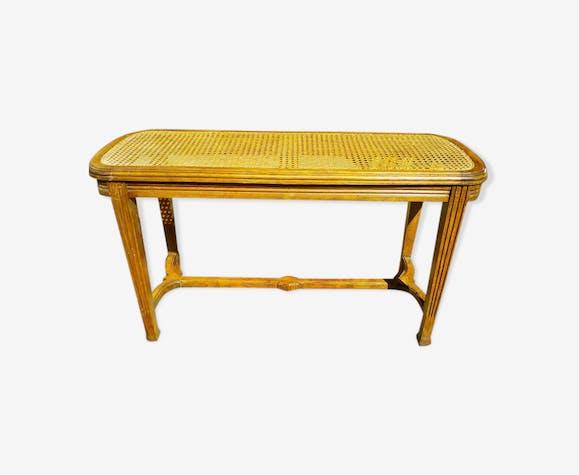 Bout De Lit Tabouret Banc Canne Style Empire Wood Wooden