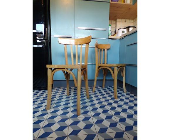 Paire de chaises de bistrot vintage