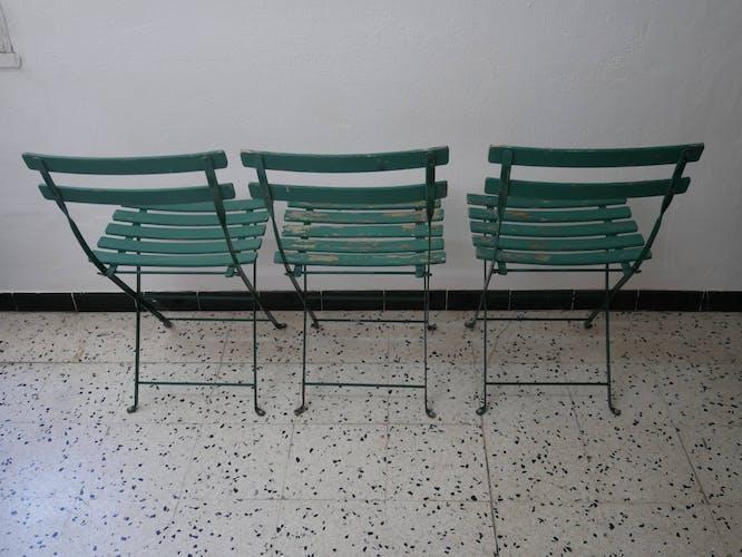5 chaises de jardin pliables