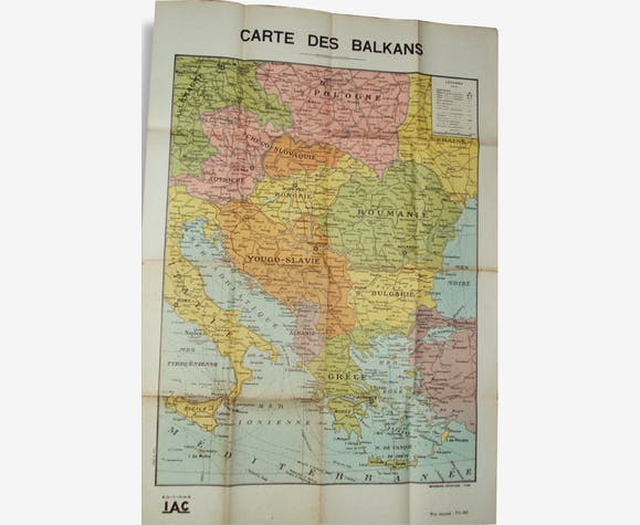 Carte Scolaire Ancienne des Balkans editions LAC