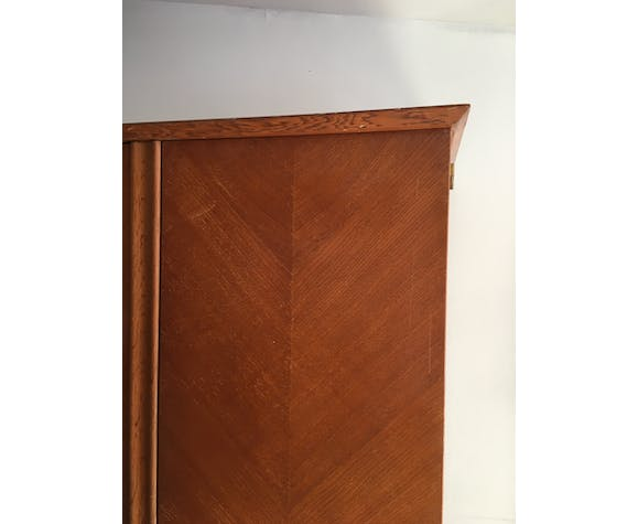 Vintage 3-doors cabinet with feet compass
