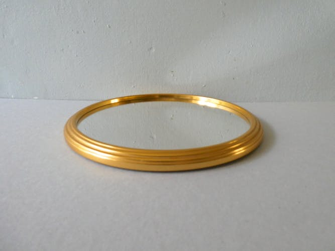 Mirror tray, gold metal tower, 23 cm