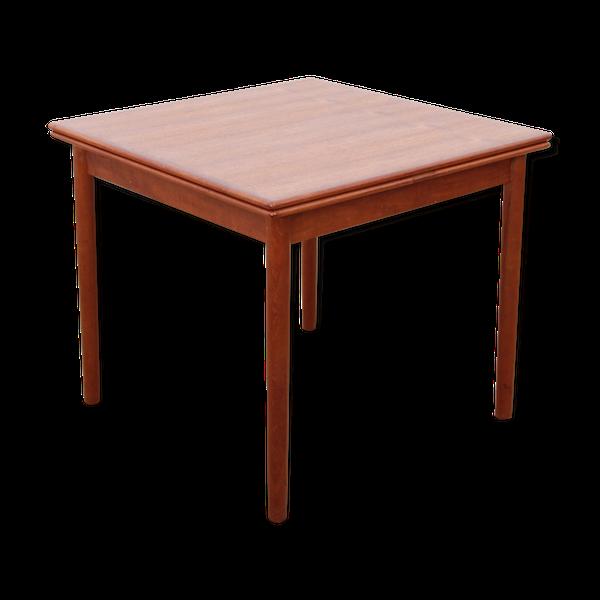 Table scandinave carrée en teck, 4/6 personnes