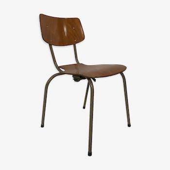Chaise scolaire vintage du design néerlandais des années 60