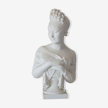 Buste Houdon Mme de Récamier Porcelaine de Paris
