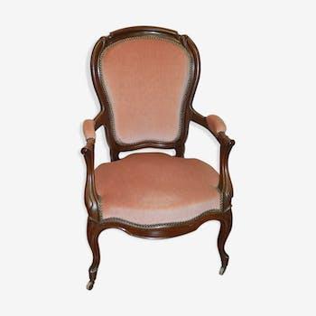 Bergère style Louis Philippe en acajou