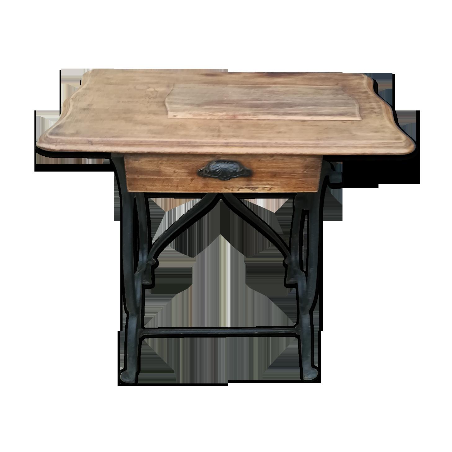 Bureau bois et métal bois matériau noir classique up iinm