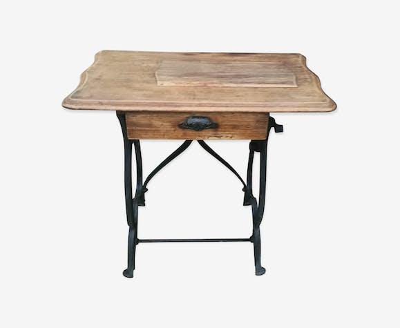 Bureau bois et métal bois matériau noir classique up8iinm