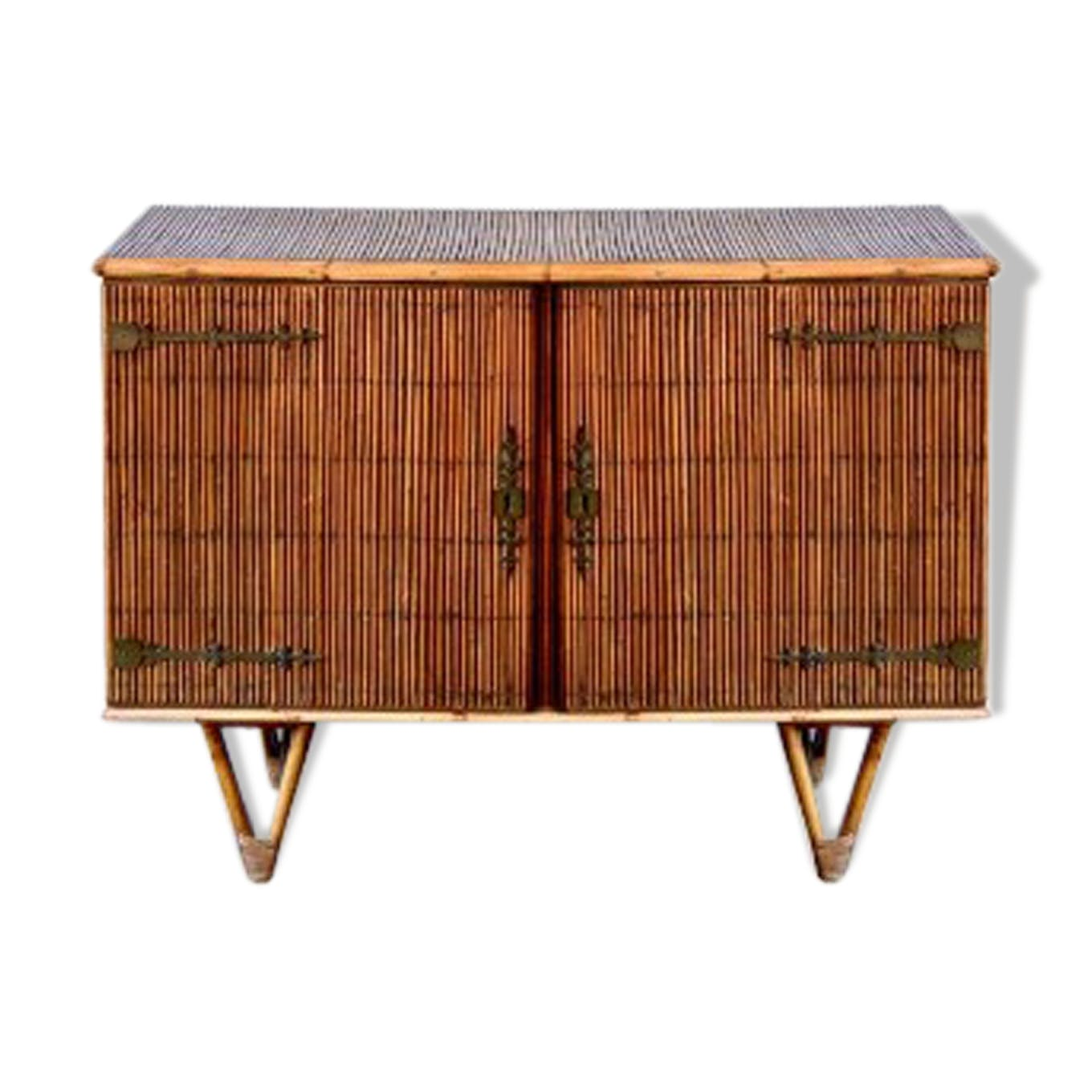 Qu Est Ce Qu Une Enfilade enfilade buffet rotin vintage - rattan and wicker - wooden