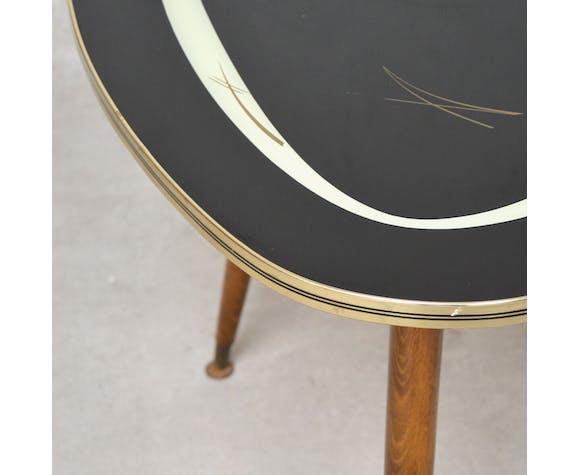 Table basse tripode noir, 1950