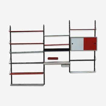 Etagère  Wall system par Tjerk Reijenga pour Pilastro, dutch design 1955