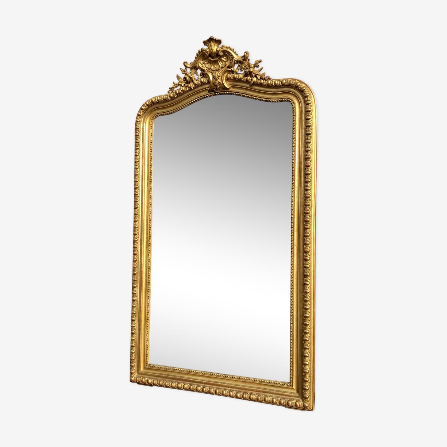 Large mirror 150 x 85 CM former gilding sheet d gold napoleon III