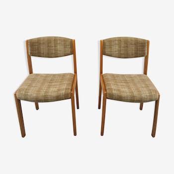 Paire de chaises beiges
