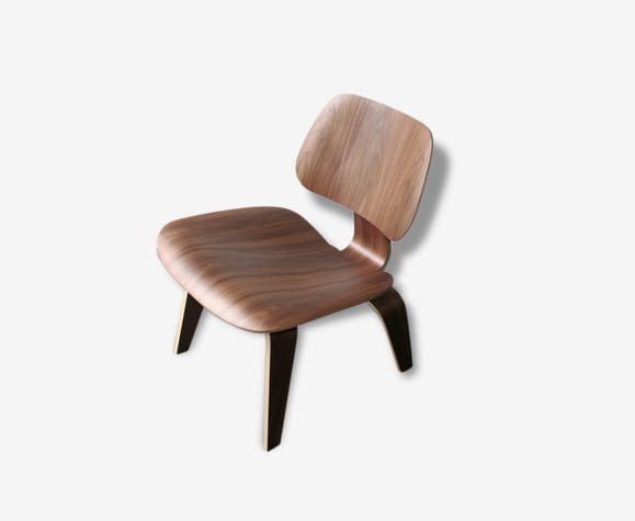Chaise Eames LCW Walnut Herman Miller